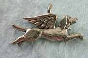 Sweet Flying Dog Angel Charm