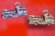 Silvery Fire Engine Charm