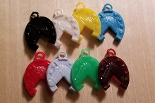 Vintage Plastic Horse in Horseshoe Charms - NEW! Choose a Color!