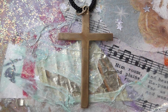 Vintage Brass Choir Cross