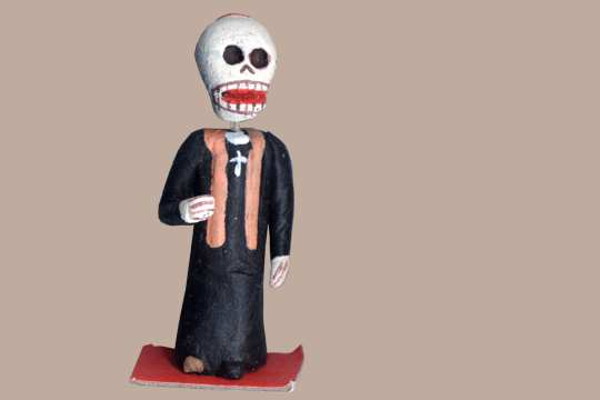 Mini Day of the Dead Figure - Holy Man (Bishop or Priest)