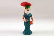 FANCY WOMAN (Woman with Parasol or Umbrella) Day of the Dead Figurine