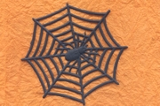 Package of 3 Black Matte Spider Web & Spider Dresdens
