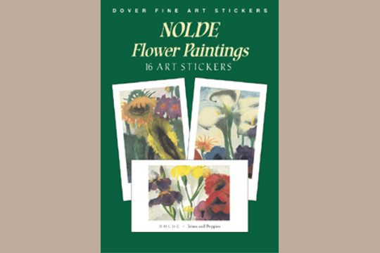 Fine Art Stickers: NOlde Flower Paintings
