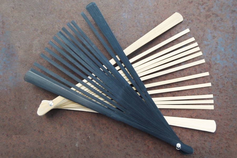 Bamboo Wood DIY Fan Sticks in 2 Finishes