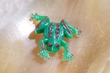 Vintage Mini Flat Backed Frog