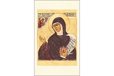 Saint Hildegard von Bingen Icon Style Holy Cards - Package of 5