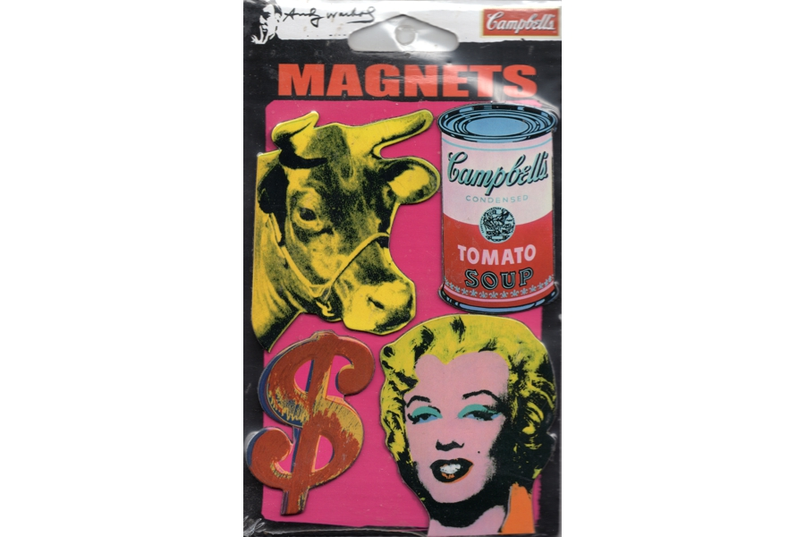 Magnet Set - Andy Warhol Icons (Cow, Soup, $, Marilyn)