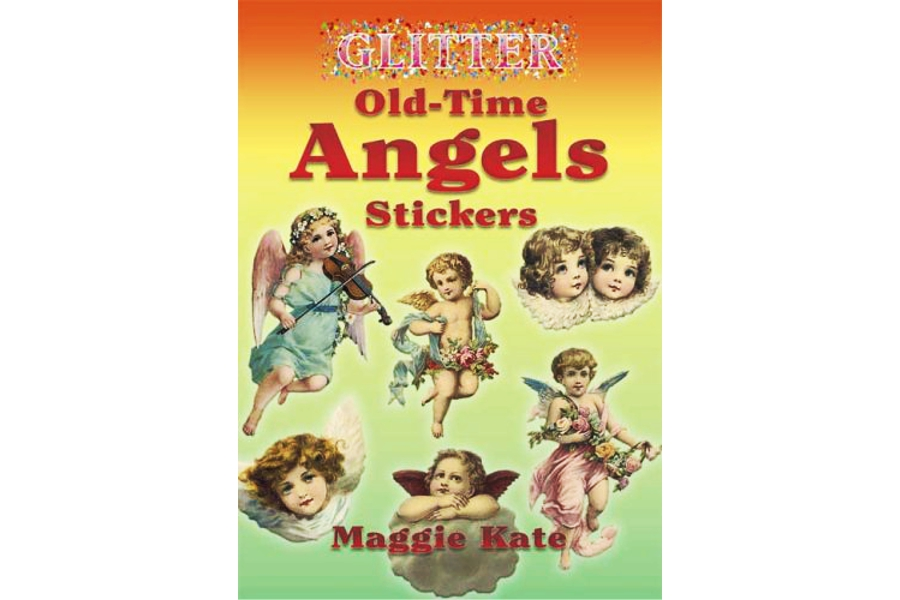 Out of Print Old-Time Glittery Angel Stickers