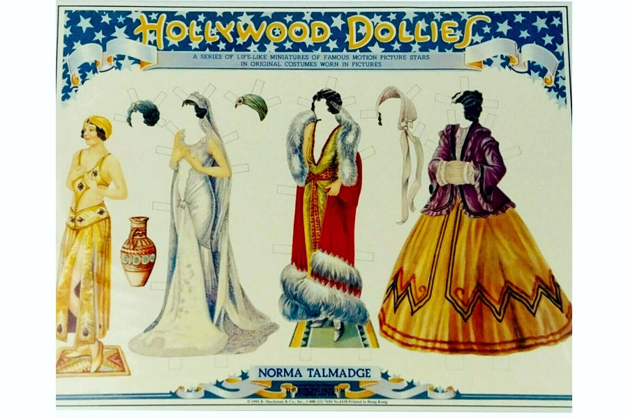 Norma Talmadge Paper Doll