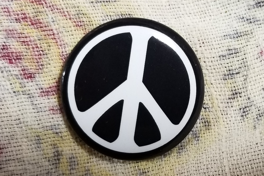 Peace Symbol Peace Sign Pinback Button