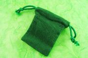 Little Green Velveteen Anti-Tarnish Drawstring Bags