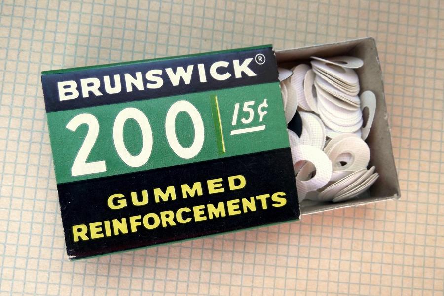vintage dennison brunswick gummed paper reinforcements