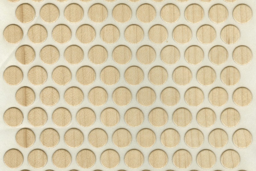 120 Self Adhesive Real Wood Dots Stickers