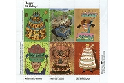 Artistamps/Faux Postes - Happy Birthday