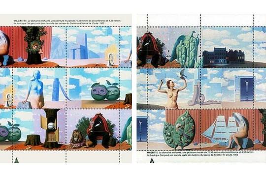 Artistamps faux postes magritte le domaine enchant 2 for Magritte le faux miroir