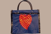 Borges Heart Vinyl Tote Bag