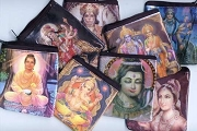 Hindu God-Goddess Viscose Zipper Bag