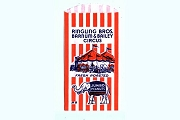 Vintage Ringling Bros. Barnum & Bailey Jumbo Peanuts Bag - Red & White Stripes