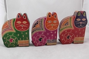 Colorful Leather Cat Bank