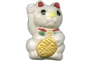 Ceramic Good Fortune Kitty Bead