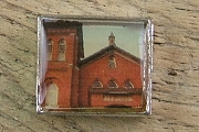 Photo Bead featuring a Red Brick Church