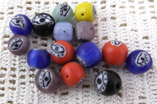 Special Glass Evil Eye Bead in Assorted Colors