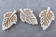 White Turquoise Leaf Bead