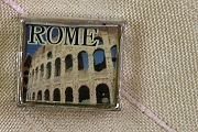 Bead Featuring the Ruins of the Coliseum in Rome, Italy