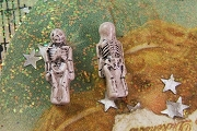 Teensy Tiny Ceramic Skeleton Bead