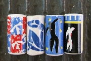Set of 4 Handmade Porcelaine Matisse Art Beads