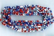 Red, White & Blue Temporarily Strung Seed Bead Strand