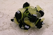 Swarm of 12 Buzzing Chenille Bumble Bees with Wired Tulle Wings