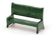 Dark Green Metal Miniature Park Bench