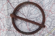 Large Vintage Rusty Circular Buckle