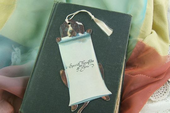 Elegant Victorian Style Bookmark - Dog - Special Thoughts of You