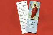 Jesus Bookmark with the 10 Commandments in Spanish