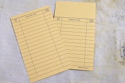 Buff (Yellow) Library Book Cards - Package of 10
