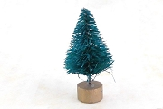 Teensy 1-1/4 Inch Green Bottle Brush Tree