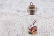 White Rabbit Bottle with Cork for Saving Time