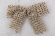Pretty Natural Burlap Bow