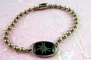 Goth Spider Bracelet with Ball Chain