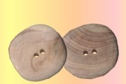 Baltic Cedar Button