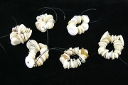Circle of 25 Assorted Vintage White and Cream Buttons