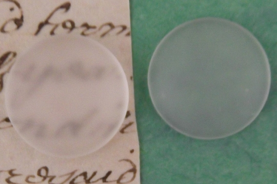 Round Frosted Glass Cabochon - 18mm