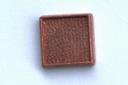 Tiny Vintage Raw Copper Square Cabochon Base