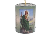 Large Saint Jude (San Judas) Paper & Metal Wrapped Votive Candle
