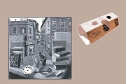 3D Note Card - MC Escher - Still Life and Street