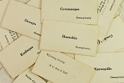 Vintage Package of 3 Train Station Memorization Flash Cards