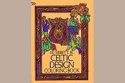 Celctic Design Coloring Book with Free Mini Box of Crayons